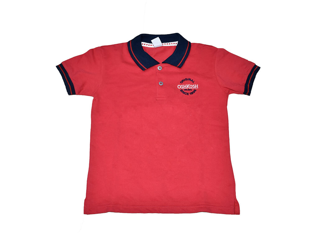 OshKosh Boy Infant Polo Tee – Red