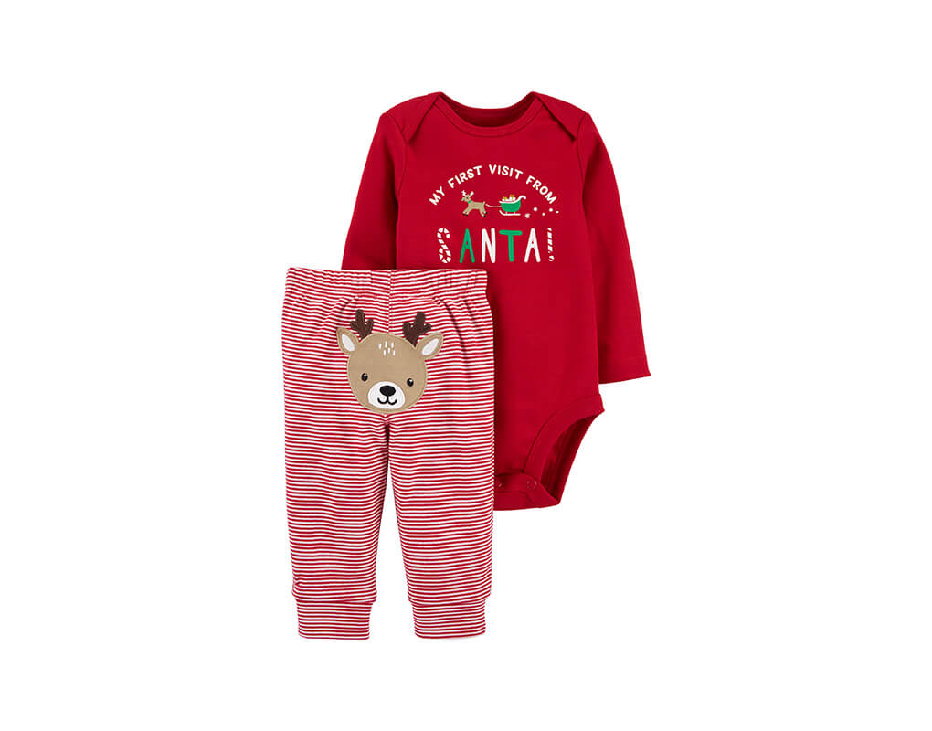 Carter's Girl 2-pc Christmas Bodysuit Pant Set