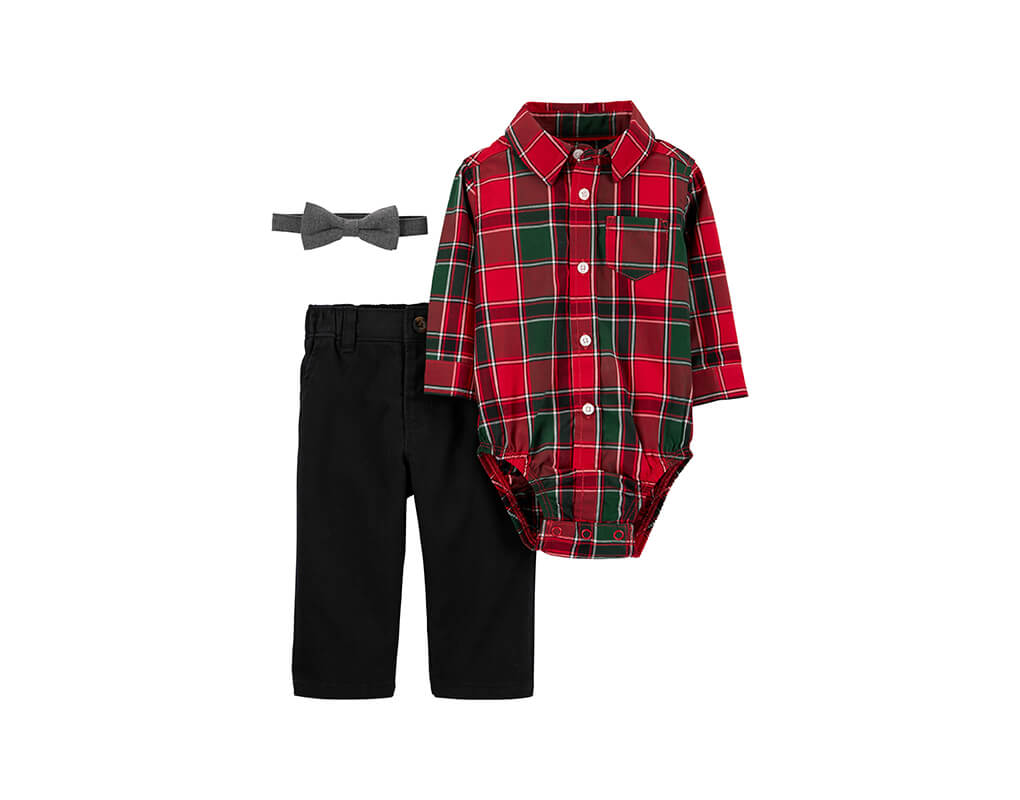 Carter's Boy 3-pc Plaid Dress Me Up Set